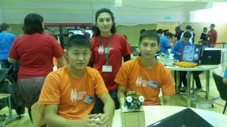 Participants of the World Robot Olympiad Head Smakova N.S. Students of  lyceum №53 AlibekovU., Kairatov A.